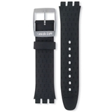 SWATCH IRONY SOFT SILICONE BLACK WILDLY 19MM STRAP ACYCS4024